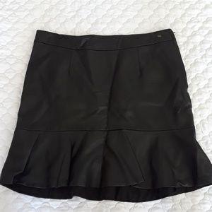 Guess Vegan Leather Ruffle Skirt